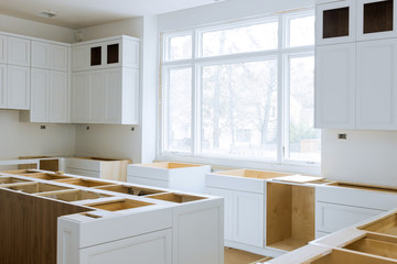 Wooden cabinets installation of in the white of installation base cabinets modular kitchen