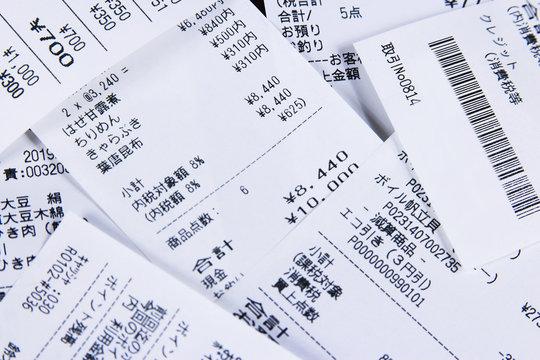 レシートと消費、消費税 Receipt and consumption tax