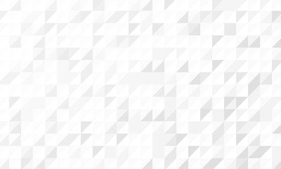 Wall Mural - Geometric pattern with light grey and white triangles. Seamless abstract background