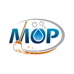 MOP Logo, Cleaning Service Logo