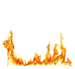 Fotorolgordijn Vuur Fire on a white background