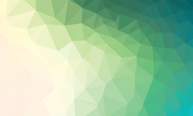 Light Green vector polygon abstract backdrop. Polygonal abstract vector with gradient. Textured pattern for your backgrounds Wall mural