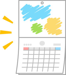 月替わりの壁掛けカレンダー