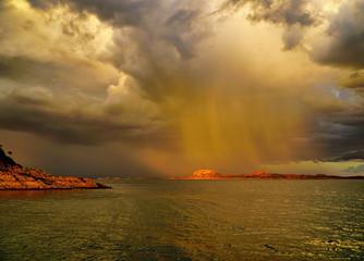 Lake Argyle is Western Australia on a tropical rainy day