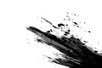 Abstract ink background texture color drawing black on white paper Background images for web and game design Mud art Macro picture of water pen on a white background