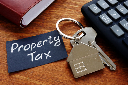 Conceptual photo showing printed text Property tax