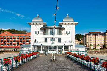 Penarth Pier and Pavilion in Summer with Flowers . Government owned.