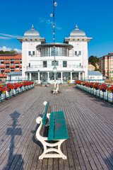 Government owned Penarth Pier and Pavilion in Summer with Flowers