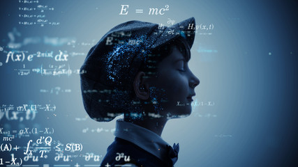 科学イメージ 方程式 定理 数学