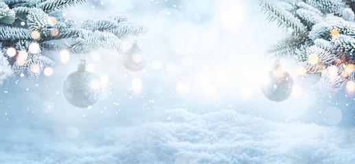 Winter christmas concept