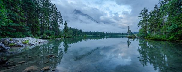 Rain Clouds over Lake Hintersee, Ramsau, Bavaria, Germany
