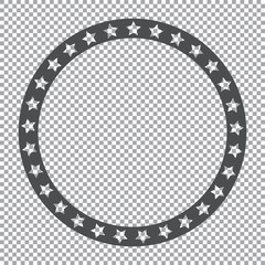 round stars frame on transparent background