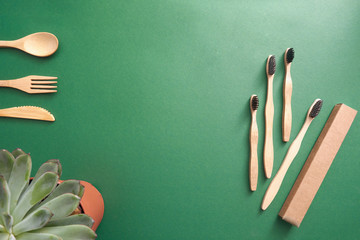 Bamboo toothbrush with cardboard package