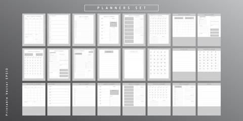 Planner sheet vector