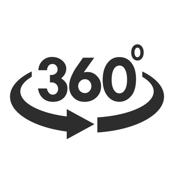 Angle 360 degree vector symbol