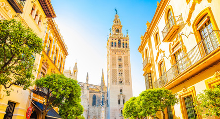 Wall Mural - Sunny Sevilla and Giralda tower