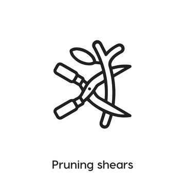 pruning shears icon vector. garden shears icon vector symbol illustration. Modern simple vector icon for your design. garden shears icon vector