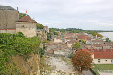 Bourg town, France from the citadel