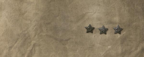 soviet star on a military tarp
