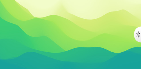 Foto auf Acrylglas Lime grun Landscape with green mountains. Mountainous terrain. Abstract nature background. Vector illustration.