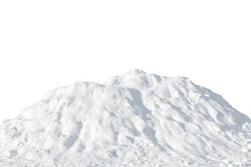 Pile of white snow on a white background Wall mural