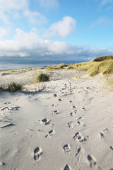 Sandstrand auf Insel Sylt