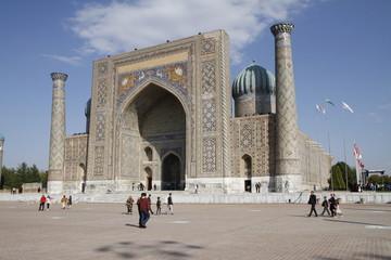 Registan Square in the uzbek city Samarkand