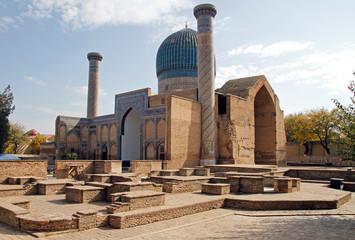 Gur-e-Amir Mausoleum in the uzbek city Samarkand