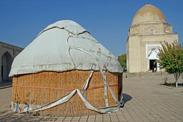 Ruhabad Mausoleum in the uzbek city Samarkand