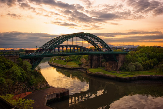 Wearmouth Bridge at Twilight - Sunderland