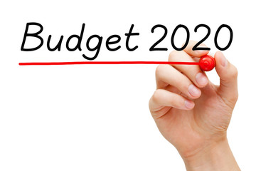 Budget Year 2020 Finance Concept