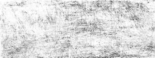 Fotobehang - Scratched white and black abstract grunge background.Long panoramic horizontal format.