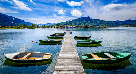 tegernsee lake - bavaria - germany Fototapete