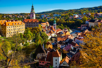Cesky Krumlov overlooking Castle, Czech Republic