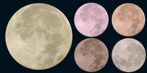 Beautiful full-moon image of a full moon.