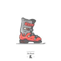 Ski Boot - Line color icon