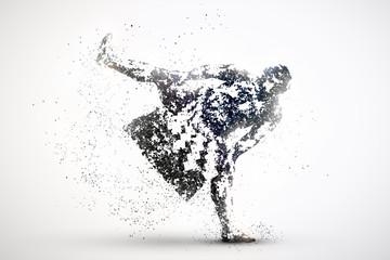 sumo wrestler abstract silhouette 1