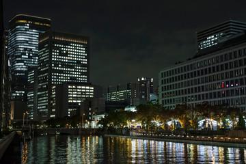 大阪中之島・土佐堀川の夜景