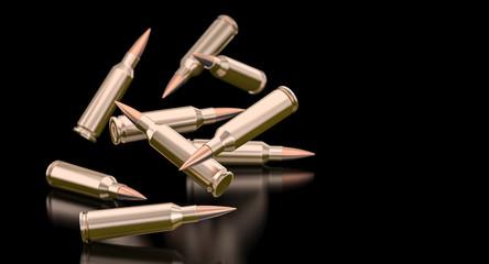 bullets of a 7.62 caliber assault rifle.