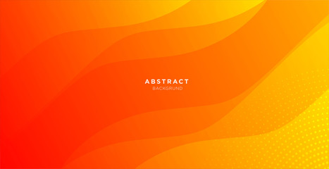 abstract minimal background with orange color Fotomurales