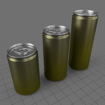 Closed beverage cans