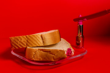 Cosmedible - Pink Lipstick On Plain White Bread