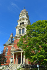 Gloucester City Hall was built in 1870 with Victorian and Second Empire style. The building is served as the center of Gloucester government in downtown Gloucester, Massachusetts MA, USA.