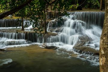Fototapeten Wasserfalle Kanchanaburi Jungle Waterfalls and Pristine Phuket Beaches