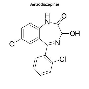 Benzodiazepine Skeletal formula of Chemical element