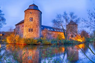 Mittelalterliche Wasserburg in Ratingen