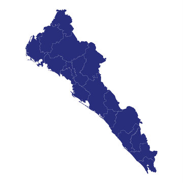sinaloa High Quality map is a state of Mexico