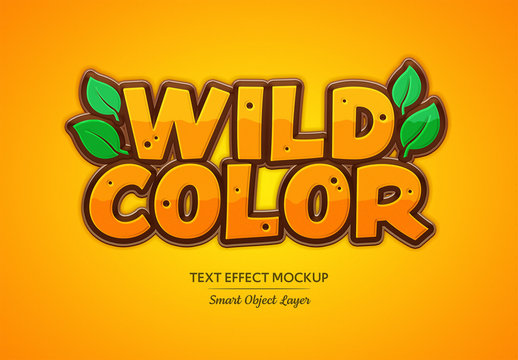 Wild Themed Pop Color Text Effect