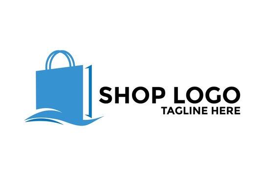 Shopping Logo vector icon illustration design