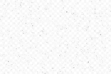 Texture grunge chaotic random pattern on transparent background. Monochrome abstract dusty worn scuffed background. Spotted noisy backdrop. Vector. Fotobehang